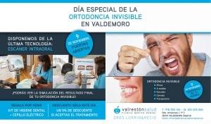 Cartel del Día especial de la ortodoncia invisible en valdemoro